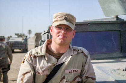 Me at Camp Victory, Iraq in 2004.