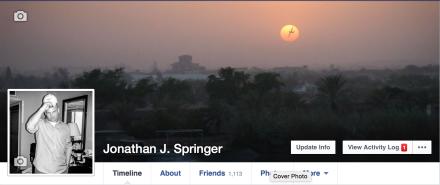 My Facebook profile.