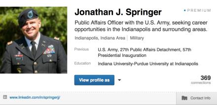 My LinkedIn profile.